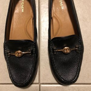 Coach Arlene black loafers shoes size 10B new